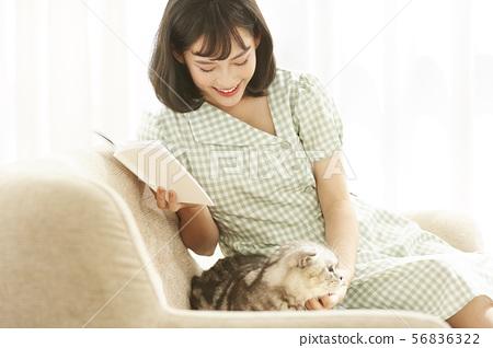 女性生活寵物 56836322