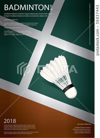 Badminton Championship Poster Vector illustration 56837443