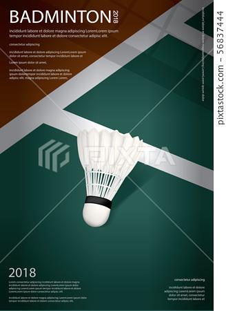 Badminton Championship Poster Vector illustration 56837444