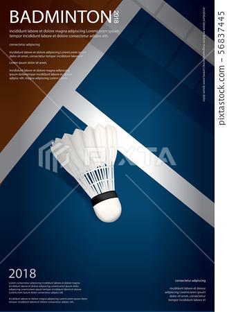 Badminton Championship Poster Vector illustration 56837445