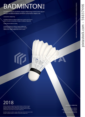 Badminton Championship Poster Vector illustration 56837446