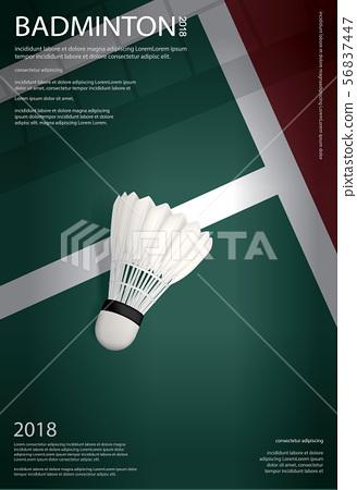 Badminton Championship Poster Vector illustration 56837447