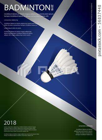 Badminton Championship Poster Vector illustration 56837448