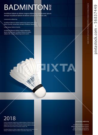Badminton Championship Poster Vector illustration 56837449