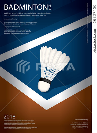 Badminton Championship Poster Vector illustration 56837450