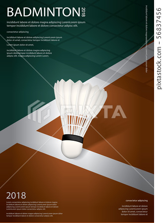 Badminton Championship Poster Vector illustration 56837456