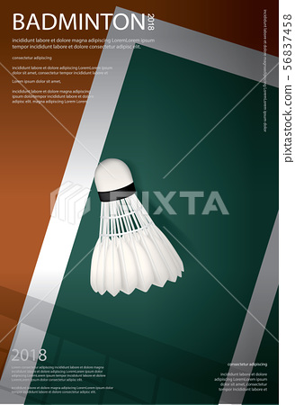 Badminton Championship Poster Vector illustration 56837458