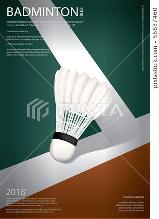 Badminton Championship Poster Vector illustration 56837460