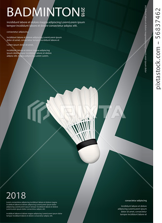Badminton Championship Poster Vector illustration 56837462