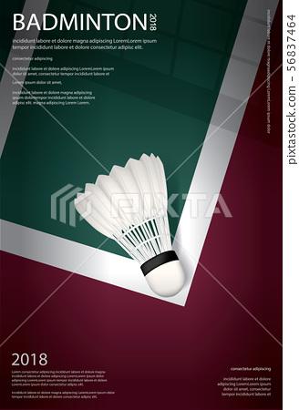 Badminton Championship Poster Vector illustration 56837464