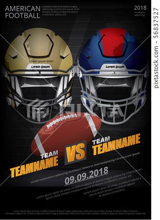 American football Poster Vector Illustration 56837527