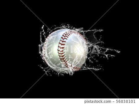 물보라를주는 야구 공 56838101