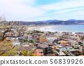 Aerial view of Kamakura Sagami Bay, Pacific Ocean, 56839926