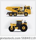 Construction Vehicles Vector Illustration 56840110