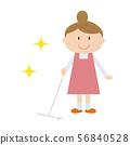 家庭主婦地板清潔 56840528