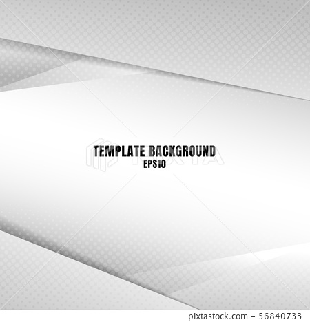 Template white gray geometric triangles background 56840733
