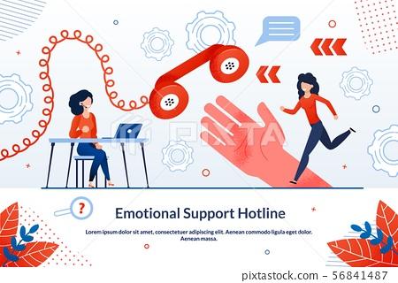 Informational Poster Emotional Support Hotline. 56841487