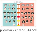 年輕和老男人和婦女的手拉的面孔 56844720