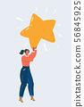 Female character hold big star. 56845925