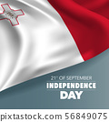 Malta independence day greeting card, banner, vector illustration 56849075