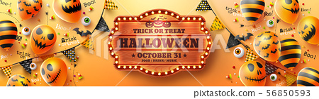 Happy Halloween trick or treat poster 56850593