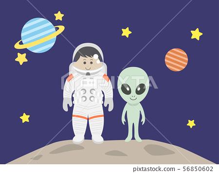 宇航員和外星人 56850602