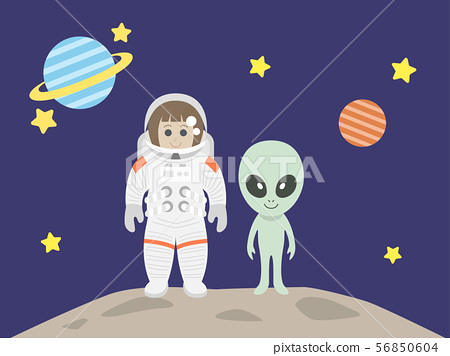 宇航員和外星人 56850604