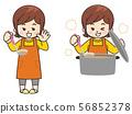 요리를 만드는 주부 56852378