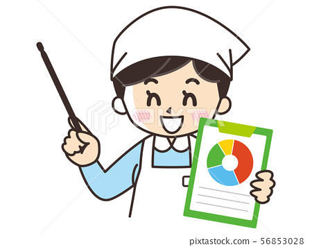 Chef woman and chart 56853028