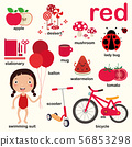 red color, Educate color and vocabulary english 56853298