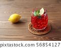 冰茶茶紅茶飲料玻璃表 56854127