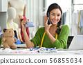 Young Asian woman entrepreneur 56855634