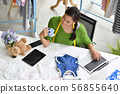 Young Asian woman entrepreneur 56855640