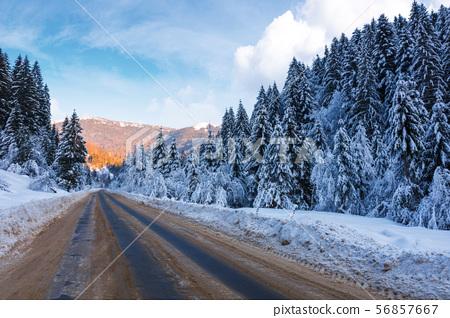 beautiful winter landscape in mountains 56857667