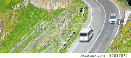 transfagarasan mountain road 56857675