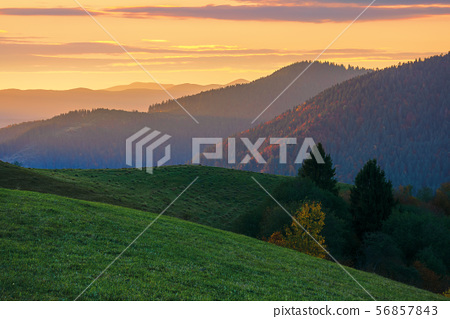 beautiful autumn countryside landscape at dusk 56857843