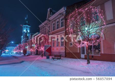 winter night in town 56857894