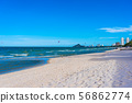 Beautiful outdoor tropical nature landscape of sea ocean and beach in hua hin Thailand 56862774