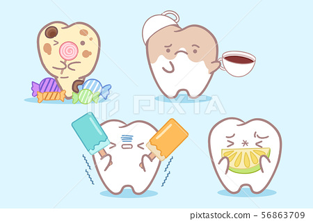 tooth with different problems 56863709