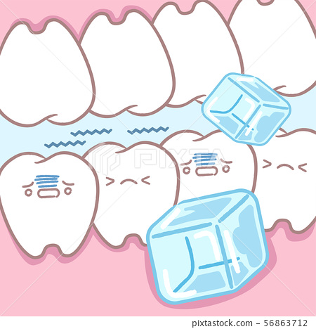 sensitive tooth with a ice 56863712