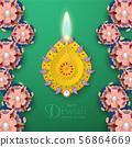 Diwali is festival of lights of Hindu. 56864669