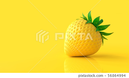Yellow strawberry 56864994