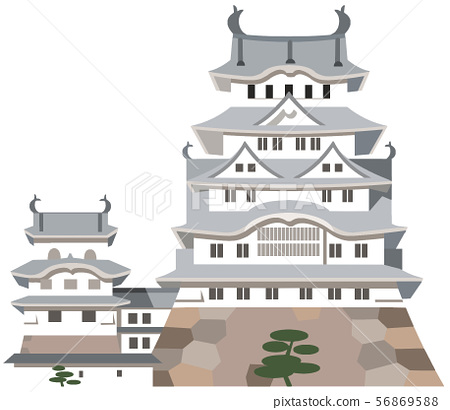 Castle tower image, sightseeing spot illustration icon 56869588