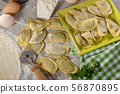 traditional italian ravioli filled with cheese and 56870895