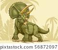트리케라톱스 (배경 수) Triceratops 56872097