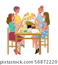 Beer toast illustration drinking party girls' association 56872220