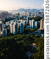 Aerial view of Hong Kong island downtown 56872826