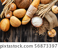 Assortment of baked bread 56873397