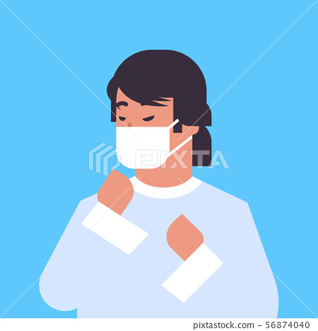 man wearing face mask environmental industrial smog dust toxic air pollution and virus protection 56874040