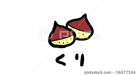 가을의 미각 소재 가을 식욕 재료 간단한 필기 아날로그 밤 밤 밤 56877584